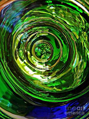 Photograph - Glass Abstract 575 by Sarah Loft
