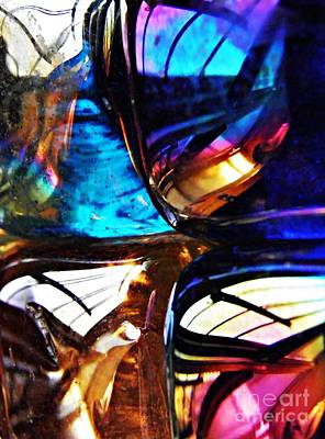 Jewel Tone Photograph - Glass Abstract 58 by Sarah Loft