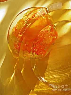 Glass Abstract 581 Art Print by Sarah Loft