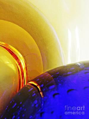 Glass Abstract 645 Art Print