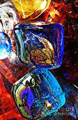 Glass Abstract 685 Art Print by Sarah Loft
