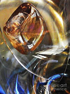 Glass Abstract 710 Art Print by Sarah Loft