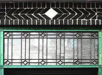 Window Photograph - Glass And Bricks by Randi Kuhne