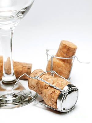 Stopper Photograph - Glass And Corks by Sinisa Botas