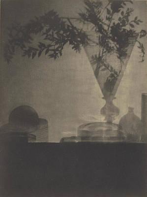 Adolf Drawing - Glass And Shadows Baron Adolf De Meyer, American by Litz Collection