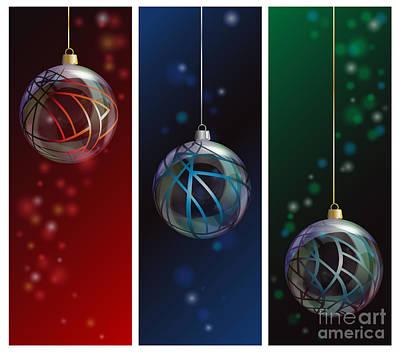 Glass Bauble Banners Art Print by Jane Rix
