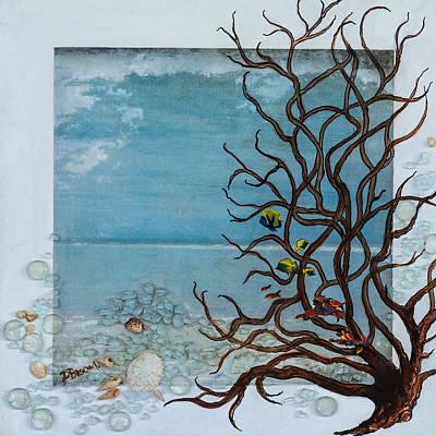 Sea Weed Mixed Media - Glass Beach by Dawn Broom