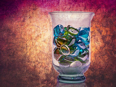 Photograph - Glass Beads In Glass by John Brink