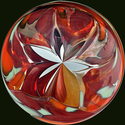 Photograph - Glass Blossom Orb by Tikvah's Hope