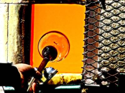 Photograph - Glass Blowing by Bob Wall