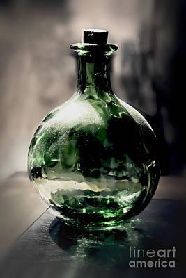 Photograph - Glass Bottle by Danuta Bennett