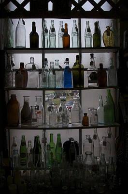Glass Bottles Art Print by Micaela Brown