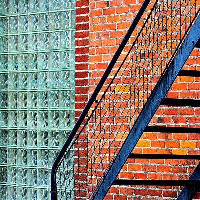 Photograph - Glass Bricks by Karon Melillo DeVega