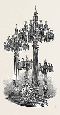 Glass Candelabra Art Print by Messrs. E. And C. Ostler