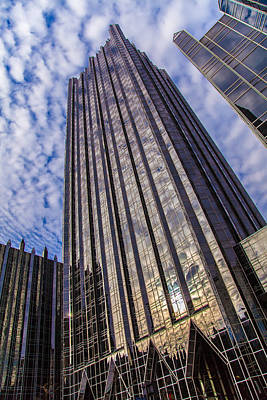 Downtown Pittsburgh Photograph - Glass Castle by April Reppucci