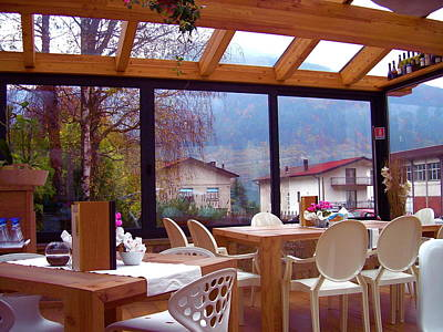 Northern Italy Photograph - Glass Coffee House by Joseph Litzinger