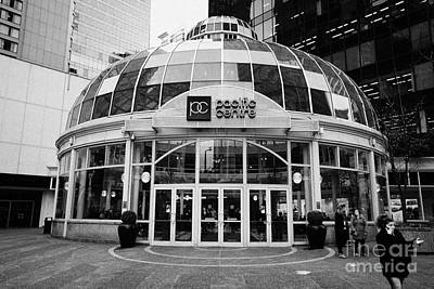 glass domed entrance to the pacific centre Vancouver BC Canada Art Print by Joe Fox