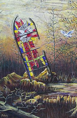 Glass Dove Art Print by Jack Malloch