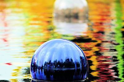 Photograph - Glass Floats by Elizabeth Budd
