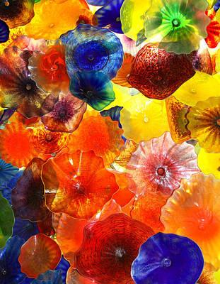 Glass Ceiling Photograph - Glass Garden Las Vegas by William Dey