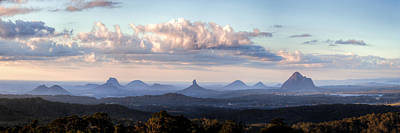 Photograph - Glass House Mountains by Brad Grove