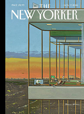 November Painting - Glass Houses by Bruce McCall