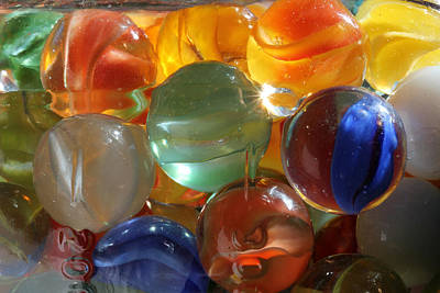 Photograph - Glass In Glass 3 by Mary Bedy