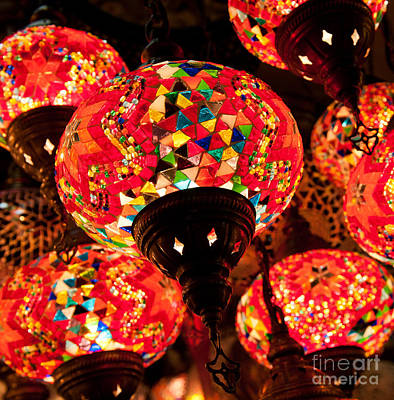 Grand Bazaar Photograph - Glass Lanterns 03 by Rick Piper Photography