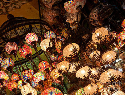 Photograph - Glass Lanterns 01 by Rick Piper Photography