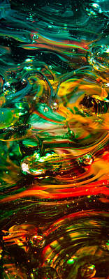 Glass Macro Abstract Ego1ce Art Print by David Patterson