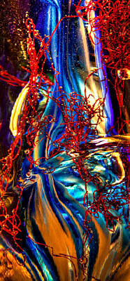 Photograph - Glass Macro Abstract M1 by David Patterson
