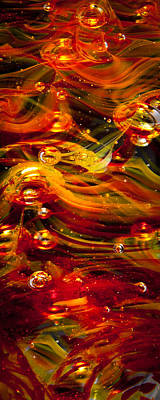 Photograph - Glass Macro Abstract - Molten Fire by David Patterson