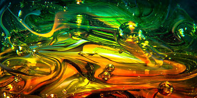 Glass Macro Abstract Rgo1ce2 Art Print by David Patterson
