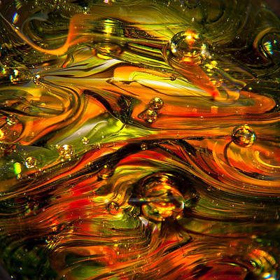 Photograph - Glass Macro Abstract Rgo1sq by David Patterson