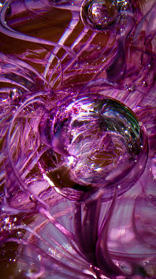 Glass Macro - Deep Pinks II Art Print by David Patterson