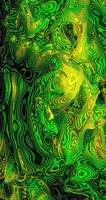 Bright Colors Of Swirling Glass Photograph - Glass Macro - Oregon Ducks by David Patterson