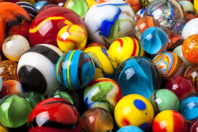 Marble Photograph - Glass Marbles by Garry Gay