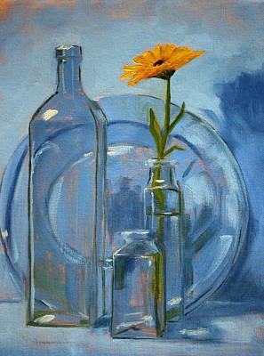 Glass Print by Nancy Merkle