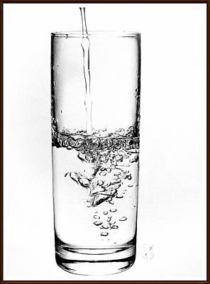 Drawing - Glass Of Water by Desire Doecette