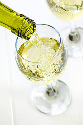 Pour Photograph - Glass Of White Wine Being Poured by Colin and Linda McKie
