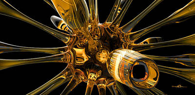 Digital Art - Glass Organism 001 by William Ladson