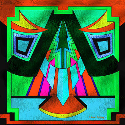 Digital Art - Glass Pattern 5-c by Chuck Staley