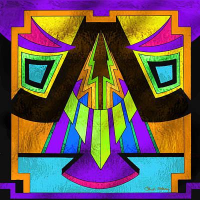 Digital Art - Glass Pattern 5 D by Chuck Staley