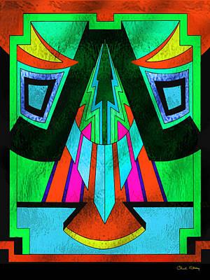 Digital Art - Glass Pattern 5 E by Chuck Staley