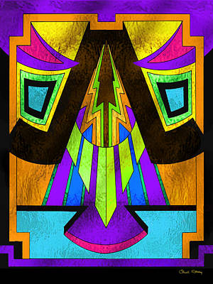 Digital Art - Glass Pattern 5 F by Chuck Staley