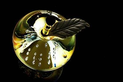 Photograph - Glass Pear by Carolyn Jacob