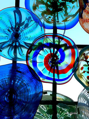 Photograph - Glass Pinwheels by Donna Blackhall
