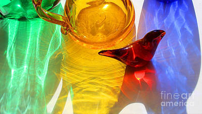 Still Life Royalty-Free and Rights-Managed Images - Glass Reflections #8 by Karen Adams