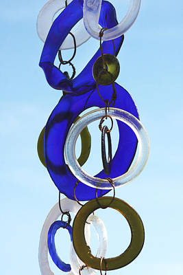 Wind Chimes Photograph - Glass Rings by Art Block Collections