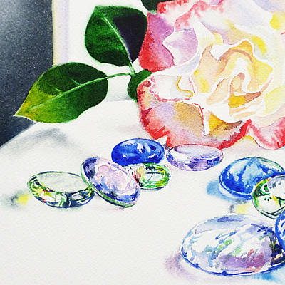 Roses Royalty-Free and Rights-Managed Images - Glass Rocks by Irina Sztukowski